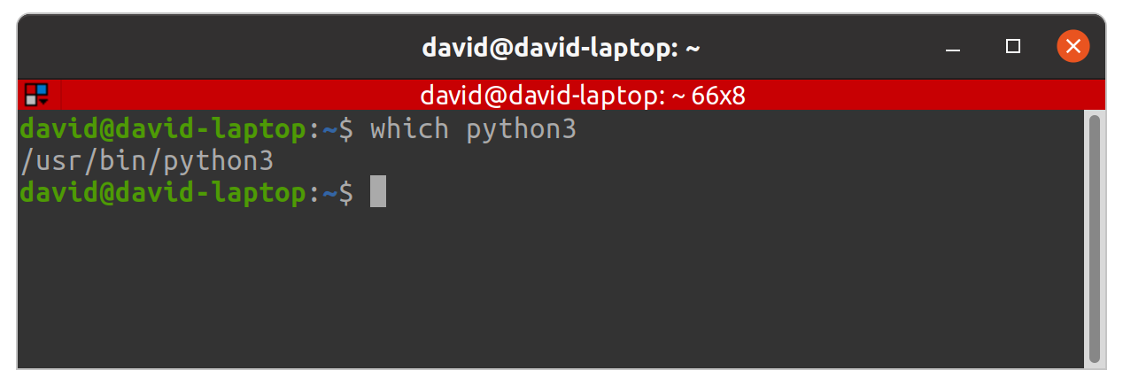 which python3 command