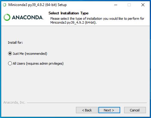 conda install scope (W10)