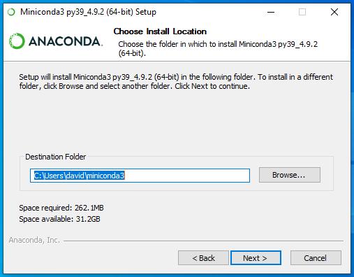 conda install location (W10)